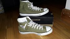 CONVERSE CHUCK TAYLOR ALL STAR HI TOP 70'S BOOTS, GREEN & WHITE SIZE 10