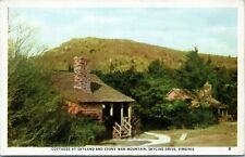 Skyland Stony Man Mountain Skyline Drive Cottages Virginia Linen Postcard