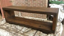 TV stand Chunky Rustic Side Table Wooden Sleeper 110cm cabinet lcd plasma coffee