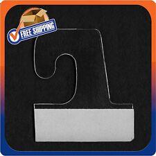 100 Self Adhesive Clear Plastic Hook Hang Tab Tags Pegbord Slatwall Hanger 14Oz