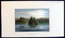 1855 H. Meyer Antique Print of American Indians on Upper Mississippi, Minnesota