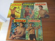 Higher Grade Run of 1953 GOLDEN AGE TARZAN #46-50 COMIC BOOKS - VG/FN to VF