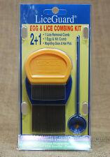 LiceGuard 2+1 EGG & LICE COMBING KIT NEW FREE SHIP Unopen SAFE NonToxic Natural
