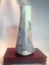 "🔵 James Rothrock Art Pottery Abstract 11"" Tall Leaning Vase Signed 🔵"