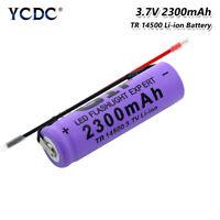 Wieder Aufladbare Li-Ion 14500 Batterie Mit DräHten FüR LED-Taschenlampe 3.7V F