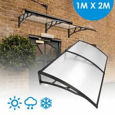 1x2m Canopy Window Door Awning DIY Outdoor Patio UV Rain Cover Sun Shield Black