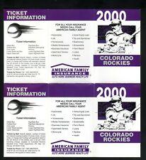 Arizona Diamondbacks--Error/Still Attached--2000 Pocket Schedules--AFI