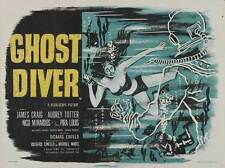 GHOST DIVER Movie POSTER 27x40 UK James Craig Audrey Totter Lowell Brown Pira