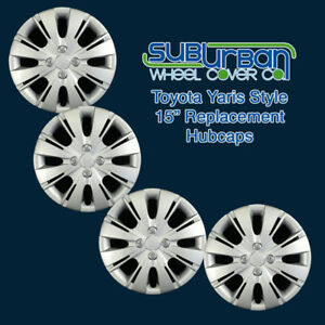 """2012-2015 Toyota Yaris Style # 509-15S 15"""" Replacement Hubcaps LOW COST SET/4"""