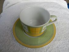 MARKS AND SPENCER ' YELLOW ROSE ' CUP AND SAUCER
