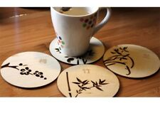 Chinesische Blumen Holzschnitzerei Home Coasters Tisch Kaffee Bar Cup Mat