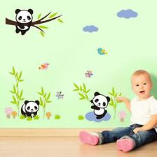 NEW Panda Bamboo flower Pattern Removable Wall Sticker Decal Kids Home Decor USA