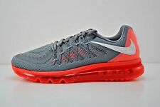 Mens Nike Air Max 2015 Running Shoes Size 12 Grey Crimson Red White 698902 018