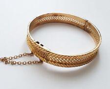 Jolie bracelet rigide jonc en plaqué or.X63