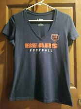 Bears Football Nfl Team Womens Apparel Fitted Tee Short Sleeve V-Neck Size M