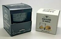 JACK DANIELS GLASS & TENNESSEE HONEY ICE MOULD BNIB WHISKEY CUBE PUB BAR WHISKY