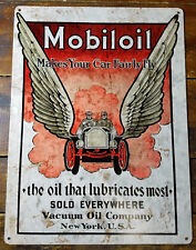 Mobiloil Makes Your Car Fairly Fly Mobil Oil Gas Station Heavy Duty Metal Sign