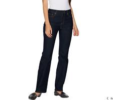 Susan Graver Petite Stretch Denim Mini Boot Cut Jeans Size 8 Indigo Denim Color