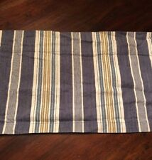 "Pottery Barn Valance Blue Hudson Stripe Cafe Window Treatment 43"" x 12"" Denim"