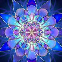 Blue Mandala 5D Diamond Painting  Drill Handicraft Embroidery Cross Stitch
