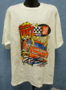 TONY STEWART 2XL SHIRT 4 SIDED NASCAR MENS VINTAGE RETRO VTG HOME DEPOT CHASE
