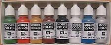 Vallejo Model Basic Colors Paint Set x8 17ml VAL 70103