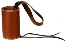 Showman Medium Oil Genuine Leather Can / Bottle Drink Holder Saddle Accessory