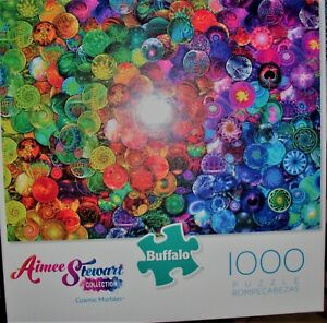"""COSMIC MARBLES"" 1000 PIECE BUFFALO JIGSAW PUZZLE  AIMEE STEWART COLLECTION"