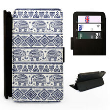 Aztec Elephant Pattern - Flip Phone Case Cover - Fits Iphone / Samsung