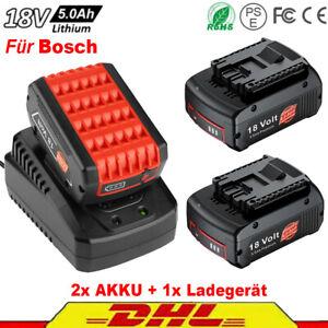 Ersetze Bosch 18V 5,0Ah Akku-Set LED 2pcs Akku & Schnellladegerät GSB GCB GSA DE