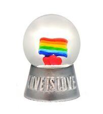 Lgbt- Love Is Love- Mini Rainbow Pride Globe - Exclusive 45Mm Snow Globe-New
