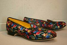 11 M Embroidered Vintage 50s Wellco Brocade Tapestry Slipper Shoe 1950s 60s