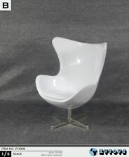 White Egg Chair Figure Scene Collectible Zytoys Zy3008 1/6