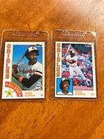 1984 Topps Eddie Murray Baltimore Orioles #240 and MLB All-Star #397 2 Card Lot