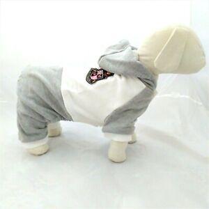 Pigiama cane abbigliamento tuta vestito per cani taglia piccola grigio