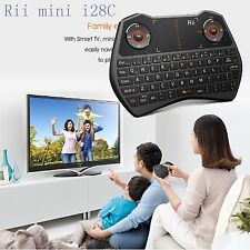 Rii i28C mini Wireless Keyboard Backlit Touchpad for Smart TV HTPC PC IPTV XBOX