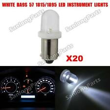 20PCS WHITE 12V BA9s 1895 H6W 53 57 Bayonet LED Dashboard LED Light Bulb