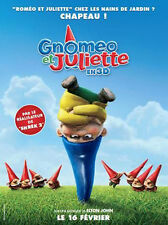 Affiche 120x160cm GNOMEO ET JULIETTE (2011) Kelly Asbury - Film d'animation TBE