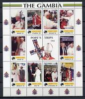 29679) Gambia 2000 MNH Pope Trips: Albania,Spain,USA