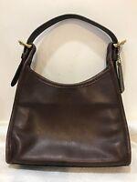 COACH mini hobo Handbag Purse  Bag Dark Brown Smooth Leather Vintage H8C-4106