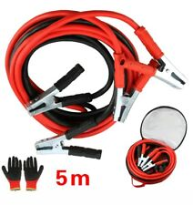 EXTRA LONG 5M HEAVY DUTY 2000AMP BATTERY JUMP LEADS BOOSTER CABLES CAR VAN TRUCK