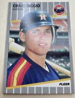 1989 Fleer Craig Biggio 353 Houston Astros Rookie Card RC