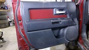 08-12 Toyota FJ Cruiser Driver Left Front Interior Door Panel (Charcoal/Brick)