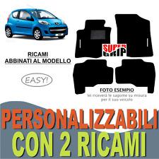 PER PEUGEOT 107 TAPPETI AUTO SU MISURA IN MOQUETTE E FONDO GOMMA + 2 RICAMI EASY
