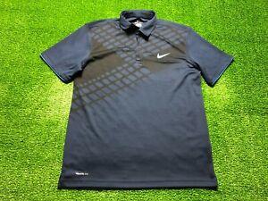 Nike Dri-Fit Golf Men's Short Sleeve Polo Shirt Size L Large Blue