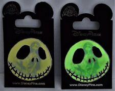 Disney Nightmare Before Christmas Jack & Sally Glow In Dark Silhouette Pin NEW