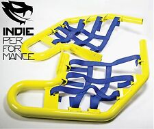 Suzuki LTZ 400 2003-14 Quad ATV Nerf Bars Nets & Fittings Yellow Po (BlueN) #04
