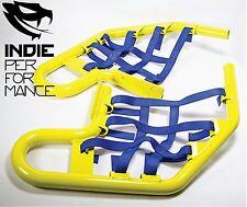 Suzuki LTZ 400 2003-14 Quad ATV Nerf Bars Nets & Fittings Yellow Po (BlueN) #04