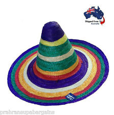 Mexican Straw Hat Rainbow Sombrero Cowboy Spanish Fiesta Party Costume