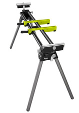 Miter Saw Tool Stand Heavy Duty Steel Portable Adjustable Folding 400 lbs Green
